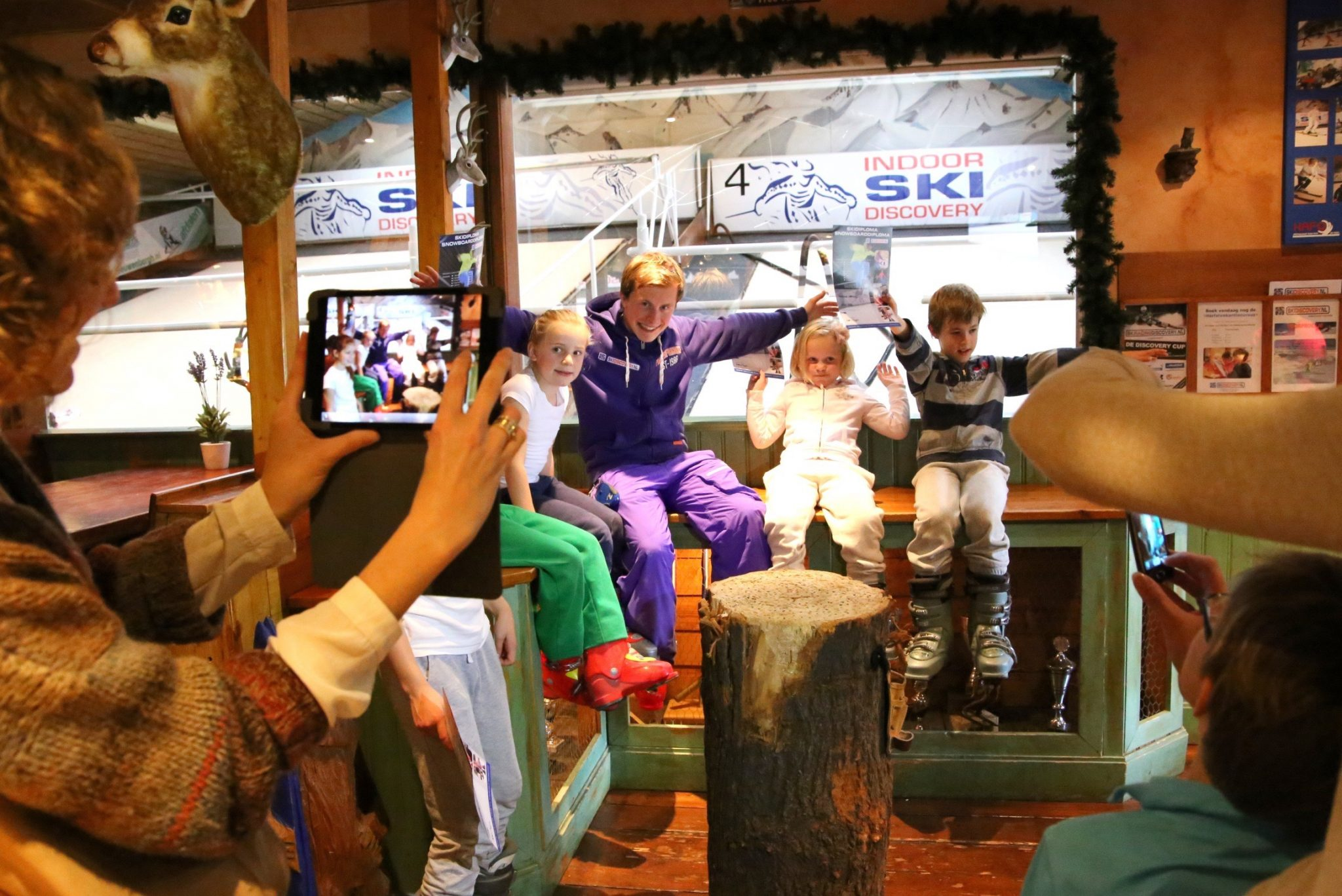 Ski diploma uitreiking